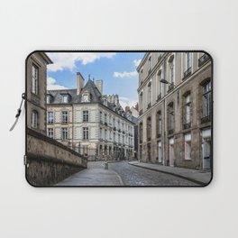 Old town street of Rennes Laptop Sleeve