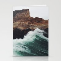 sea Stationery Cards featuring Montaña Wave by Kevin Russ