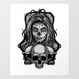 Mexican skull 2 Art Print