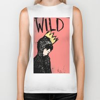 into the wild Biker Tanks featuring Wild by Kristina K.