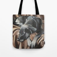 gizmo Tote Bags featuring Gizmo by Athena Cooper