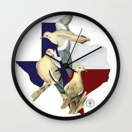 Shootat- Texas Doves Wall Clock