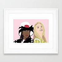 clueless Framed Art Prints featuring clueless by Britt Whitaker Design