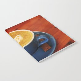 Coffee and Cats-A cat face in a coffee design Notebook