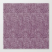 Hand Knit Plum Canvas Print