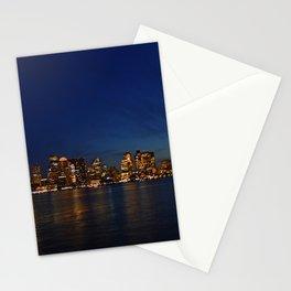 Night Skyline Stationery Cards