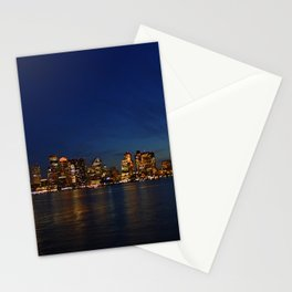 Night Skyline Stationery Cards