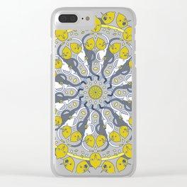 Lemon Wheel Clear iPhone Case