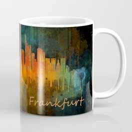 Frankfurt am Main, City Cityscape Skyline watercolor art v4 Coffee Mug