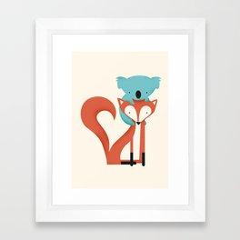 Fox & Koala Framed Art Print