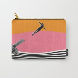 """Surreal Vintage Collage Art """"FEEL FREE"""" By ARTERESTING Carry-All Pouch"""