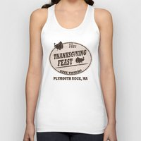 thanksgiving Tank Tops featuring Established 1621 Thanksgiving by Cosmik Monkey