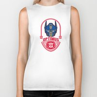 optimus prime Biker Tanks featuring Optimus by Buby87