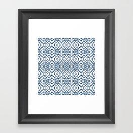 Web Navy Framed Art Print