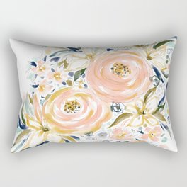 SMELLS LIKE LIGHT AND LOVE Floral Rectangular Pillow