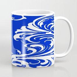 Damask Blue and White Coffee Mug