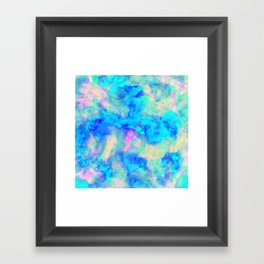 Electrify Ice Blue Framed Art Print