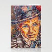 frank sinatra Stationery Cards featuring Frank Sinatra  by Sara Elyse Lehtman