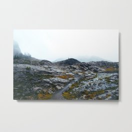 Rainy Mount Baker Metal Print