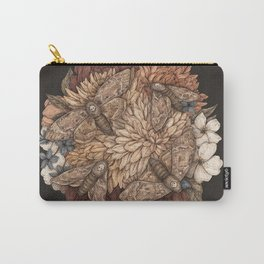 Flowers and Moths Carry-All Pouch