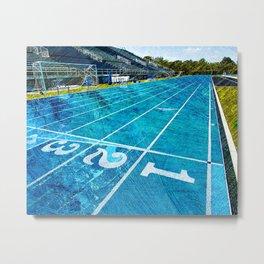Track and field art print work 1 Metal Print