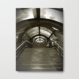 Elephant Stairs Metal Print