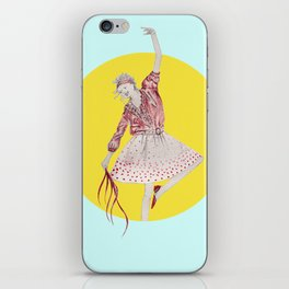 Girl with streamers iPhone Skin