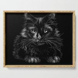 Black cat Serving Tray