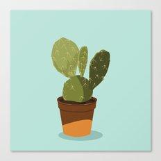 Orange Pot Cactus Canvas Print