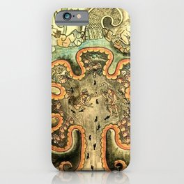 Aztec Collection: The Seven Caves of Chicomoztoc iPhone Case