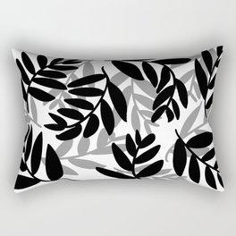 The Black Leaves Rectangular Pillow
