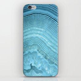 Blue Agate Crystal iPhone Skin