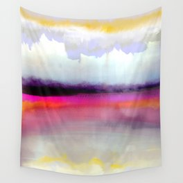 Pink Silver Wall Tapestry