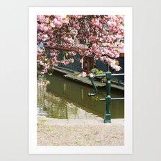 Amsterdam spring Art Print