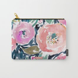 GARDENS OF CAPITOLA Watercolor Floral Carry-All Pouch