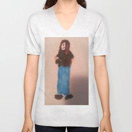 Goth Girl Unisex V-Neck
