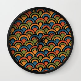 Pop Fan Pattern Wall Clock
