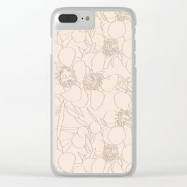 Australian Waxflower Line Floral in Natural Clear iPhone Case