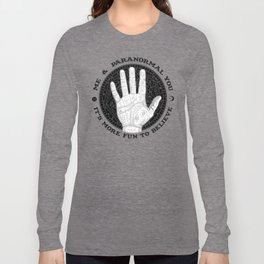 Me & Paranormal You - James Roper Design - Palmistry B&W (black lettering) Long Sleeve T-shirt