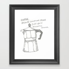 Coffee v. crack Framed Art Print