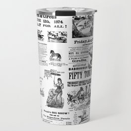 Victorian Circus Poster Travel Mug