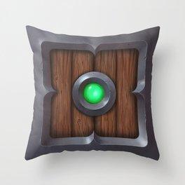 Hand painted Wooden pillow box Throw Pillow