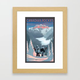 Snow Board Therapy Framed Art Print