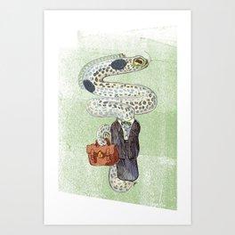 Eel Accountant Art Print