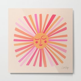 Sunshine – Pink Metal Print