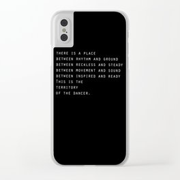Between rhythm and ground Clear iPhone Case