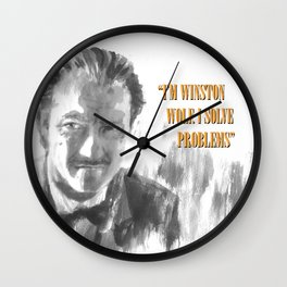 Winston Wolf in Pulp Fiction Wall Clock