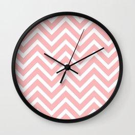 Pink zigzag design Wall Clock