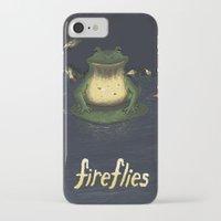 fireflies iPhone & iPod Cases featuring Fireflies by Ken Coleman