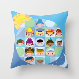 small world Throw Pillow